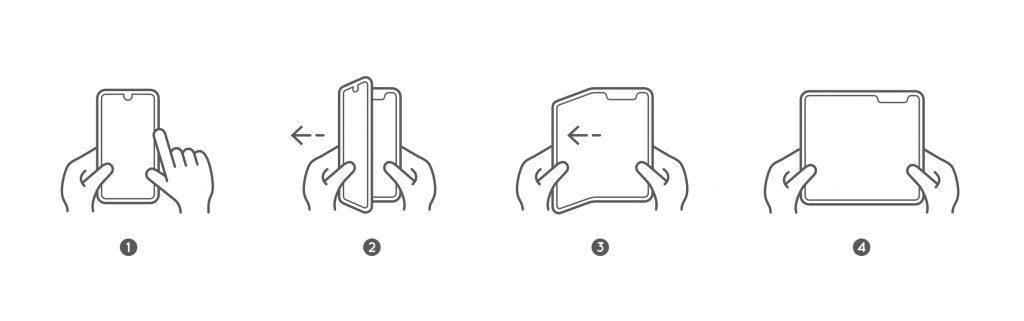 Foldable smartphone folds