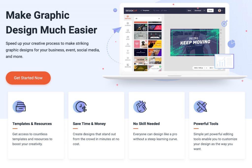 DesignCap - graphic design tools