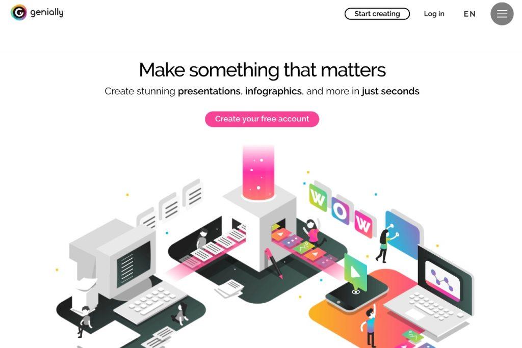 Genially - free online graphic design