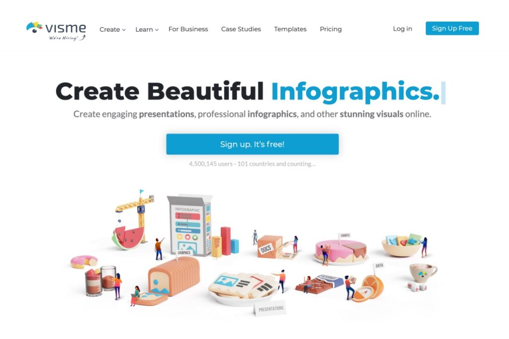 Visme- create beautiful graphics