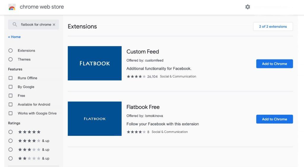 Flatbook Facebook unfriend