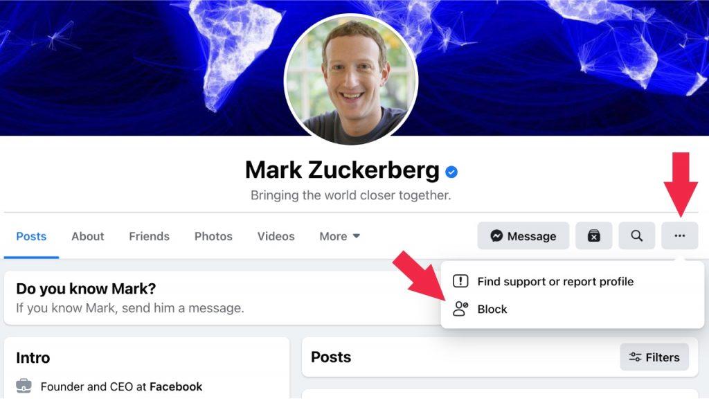 كيف تحظر شخص ما على الفيسبوك؟ شرح بالصور