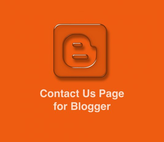 Contact us page for Blogger Blogspot