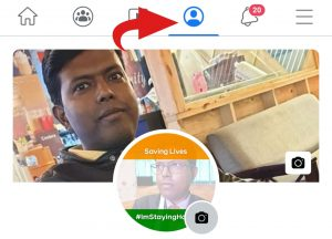 Facebook - Tap on profile icon