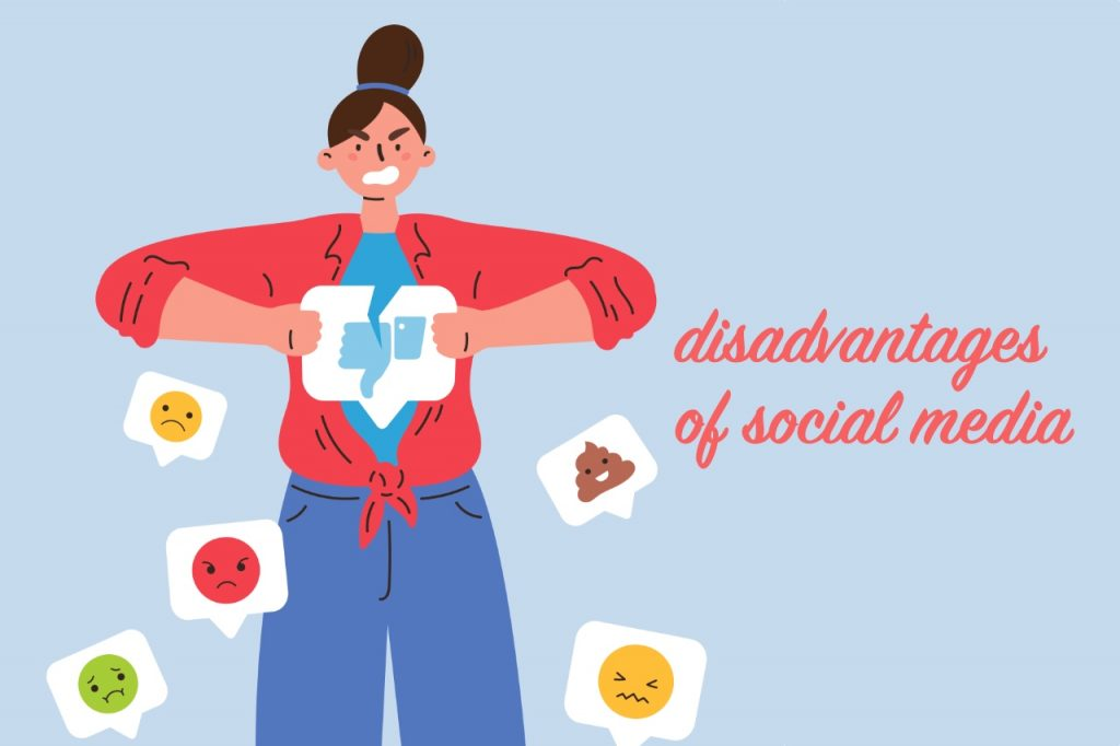 The disadvantages of social media