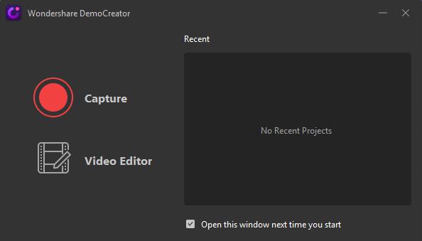 Wondershare DemoCreator capture button