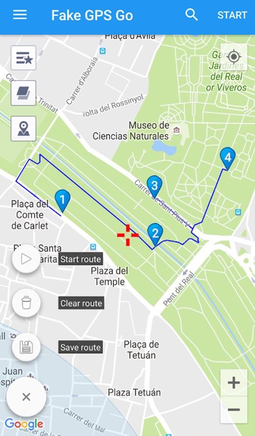 Fake GPS GO Location Spoofer target location