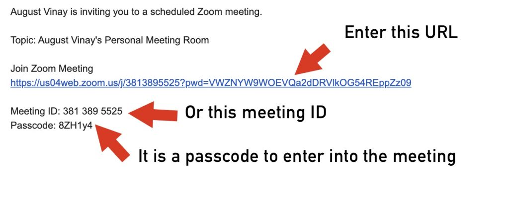 Join Zoom meeting invitation