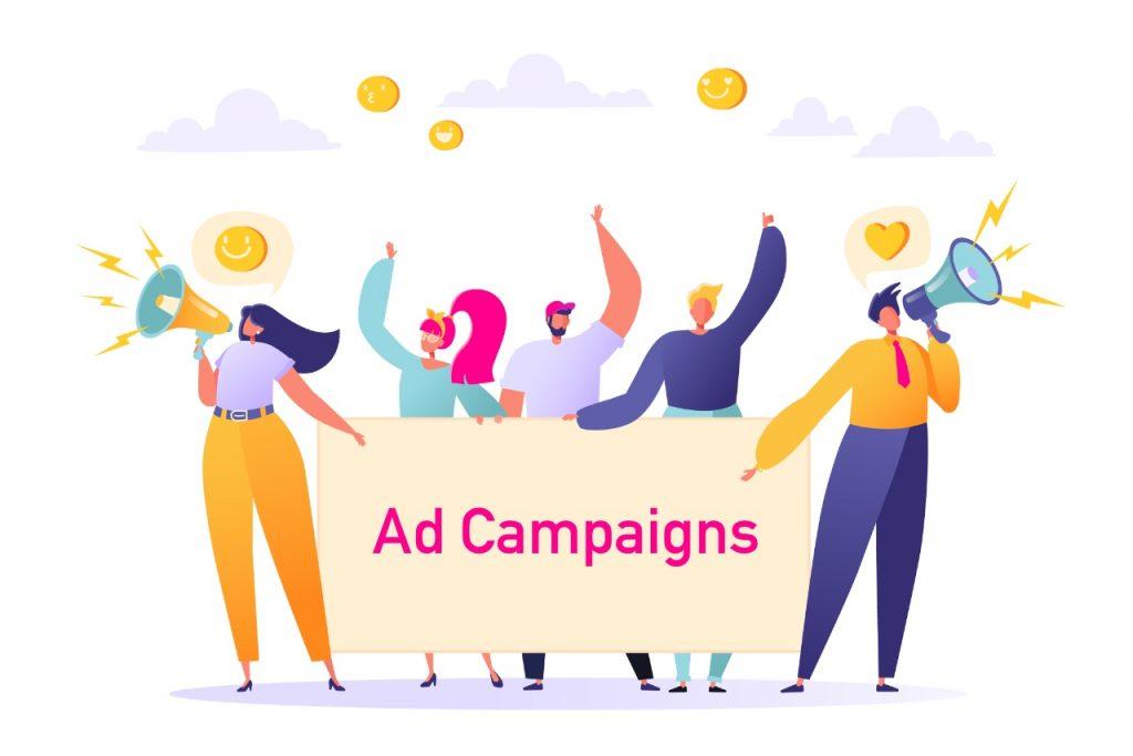 Paid social media marketing ad campaigns