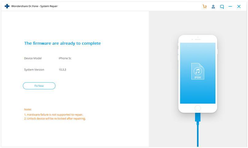 Wondershare Dr.Fone iOS system repair 04