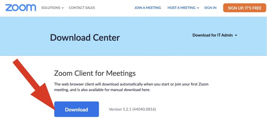 Download the Zoom client for meetings