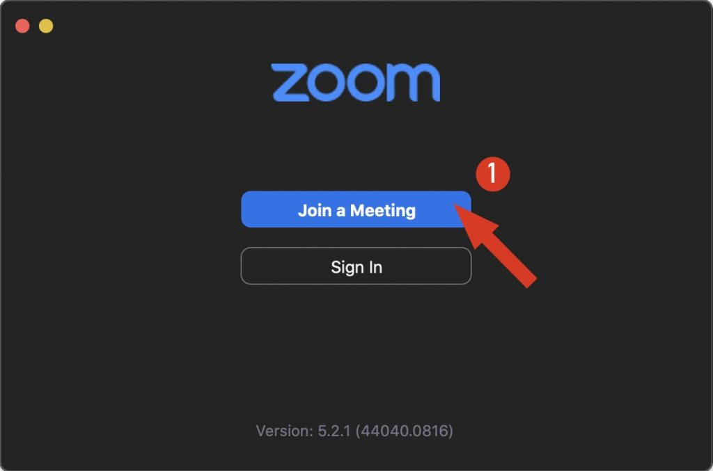 Zoom - join a meeting