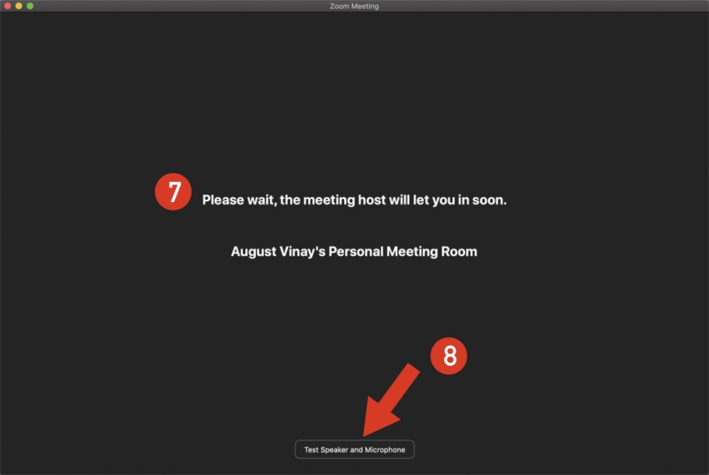 Zoom meeting host