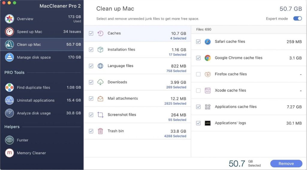 MacCleaner Pro - Clean up Mac