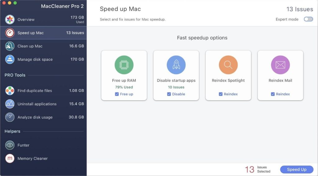 MacCleaner Pro - Speed up Mac