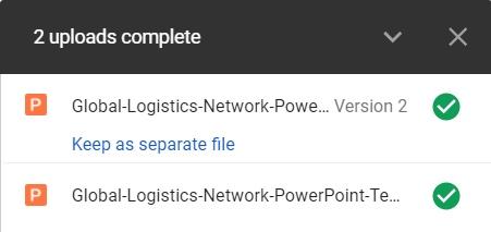 Google Drive Uploads Complete