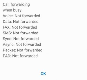 Call forwarding when busy