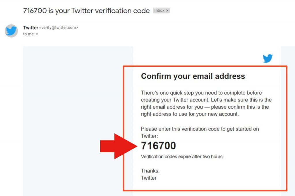 Twitter confirm your email
