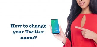 How to change Twitter name or display name